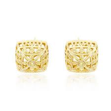 14k gold earrings gold earrings online 14k gold plated square earrings