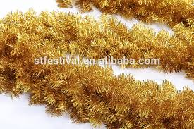 wholesale 270cm golden color tinsel garland view