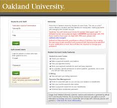 Oakland University Campus Map How To Log Into Ebill