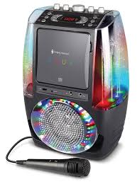 karaoke machine with disco lights amazon com singing machine sml605bk agua dancing water fountain