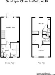 hatfield house floor plan 2 bedroom terraced house for sale in sandpiper close hatfield
