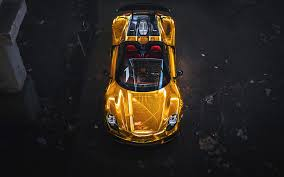 porsche 918 wallpaper porsche 918 spyder gold wallpaper