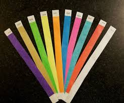 color paper tyvek wristbands for events 100 3 4