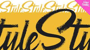 vector typography tutorial vector brush stroke typography in illustrator illustrator