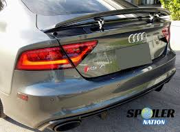 2010 2017 audi a7 rs7 s7 euro style rear lip spoiler