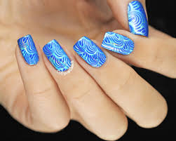 copycat claws 31dc2014 day 5 blue stamping over foils