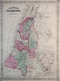 Map Of Palestine Map Of Palestine 1869