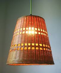 Diy Pendant Light Fixture Wicker Basket Hanging Pendant Light