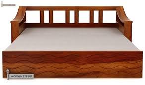 King Size Folding Bed Thar Sofa Cum Bed King Size Honey Finish