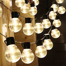 Solar Powered Rv Awning Lights Clear String And Fairy Lights Ebay