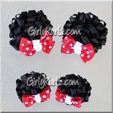 minnie mouse hair bow mini minnie mouse ears hair bows girly kurlz