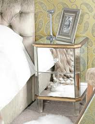 renowned mirrored nightstand collections home furniture segomego