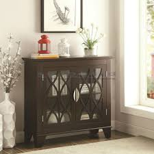 small accent cabinet with doors dark brown vintage lattice overlay accent cabinet