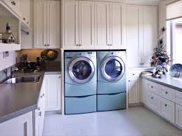 traditional laundry room with drop in sink u0026 built in bookshelf