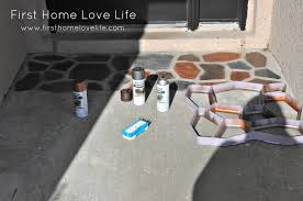 Front Porch Floor Paint Colors by Reeeeeemix Front Door Edition Flagstone Concrete And Stencils