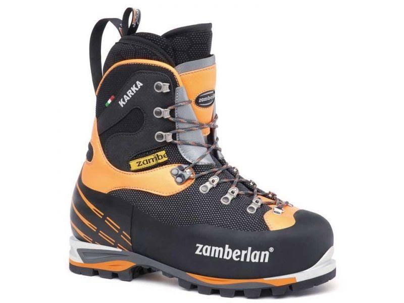 Zamberlan 6000 Karka Evo RR Mountaineering Boot Black/Orange 47 EU / 12 US 6000BO