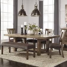 likeable traditional casual dining room with 6 pieces tahoe