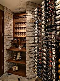 marvelous traditional wine cellar room design interior with small