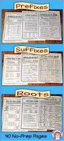 prefixes and suffixes plus roots no prep printables prefixes