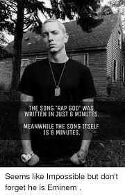 Eminem Rap God Meme - 25 best memes about rap god eminem rap and god rap god