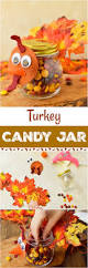 home made thanksgiving decorations turkey candy jar thanksgiving craft for kids this candy jar