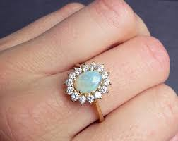 vintage opal engagement rings gold opal engagement ring diamond and opal ring diamond halo