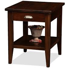 leick corner accent table amazon com leick laurent end table with drawer kitchen dining
