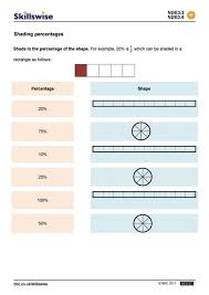 money percentage worksheets fractions decimals percents word