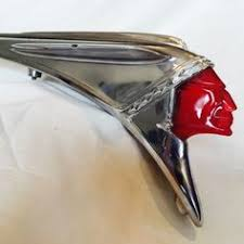 1949 pontiac chieftain ornament vintage indian motorcycle