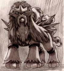 fire type pokemon images my drawing of entei hd wallpaper and