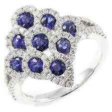 18ct white gold diamond amethyst 18ct white gold marquise shaped sapphire u0026 diamond cluster ring