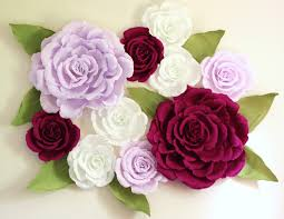 purple roses for sale paper flower wall display 5ft x 5ft purple wedding