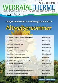 Therme Bad Sooden Allendorf Lange Saunanacht Am 02 September 2017 Werrataltherme Bad