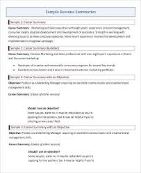 Sample Resume Summaries by 29 Resume Examples Free U0026 Premium Templates