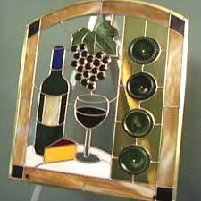 Stained Glass Kitchen Cabinets Stained Glass Patterns Wi E And Grapes Stained Glass Kitchen