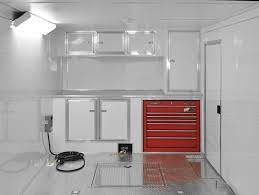v nose enclosed trailer cabinets touch of class trailers interior e track helmet rack cabinet