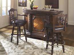 North Shore Bar With Marble Top   Tall UPH Swivel Barstools - North shore dining room