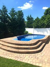 radiant semi inground pools long island semi inground pool