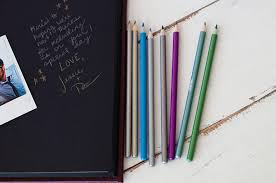 guest book with black pages metallic colored pencils for crafts with black pages and photo