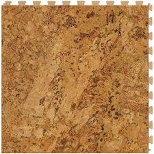 shop perfection floor tile wood 6 20 in x 20 in cork