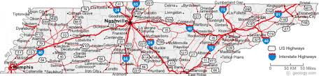Tennessee On The Map by Tennessee Road Map Throughout Of Cities Map Of Tennessee Cities