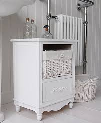 Free Standing Bathroom Shelves Charming Free Standing Small Bathroom Cabinet White Cottage