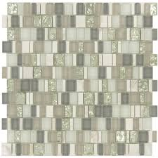 unique shapes grey glass and stone unique shapes tile glossy ef612
