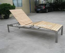 stainless steel with teak lounge chair for outdoor furniture