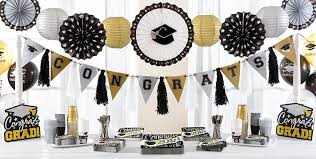 graduation party supplies black white and gold congrats graduate party supplies