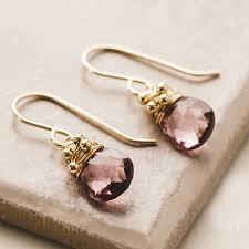 pink drop earrings pink quartz drop earrings by hickey notonthehighstreet