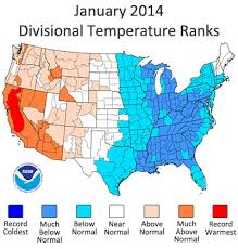 us climate map ncdc releases january 2014 u s climate report national centers