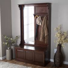 White Entryway Bench by Furniture Veneered Entryway Storage Bench With Coat Rack And