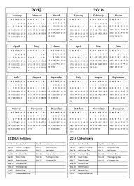 printable calendar year 2015 2015 two year calendar free printable templates