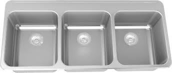 Buildca Home Improvement Products No Duties Or Brokerage Fees - Three compartment kitchen sink